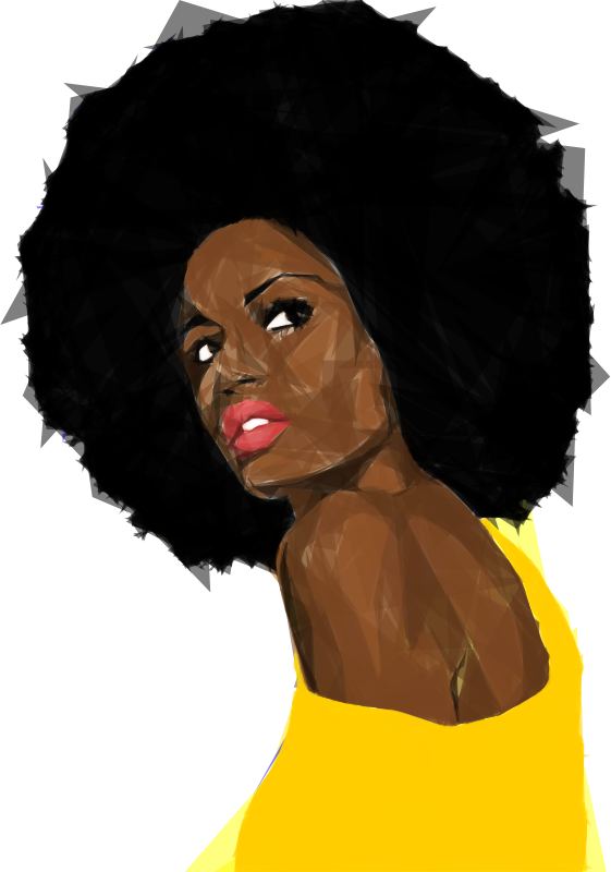 Download Free png Beautiful Black Woman 2 Geometric No.