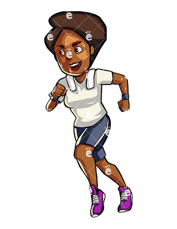 A Black Woman Jogging in 2019.