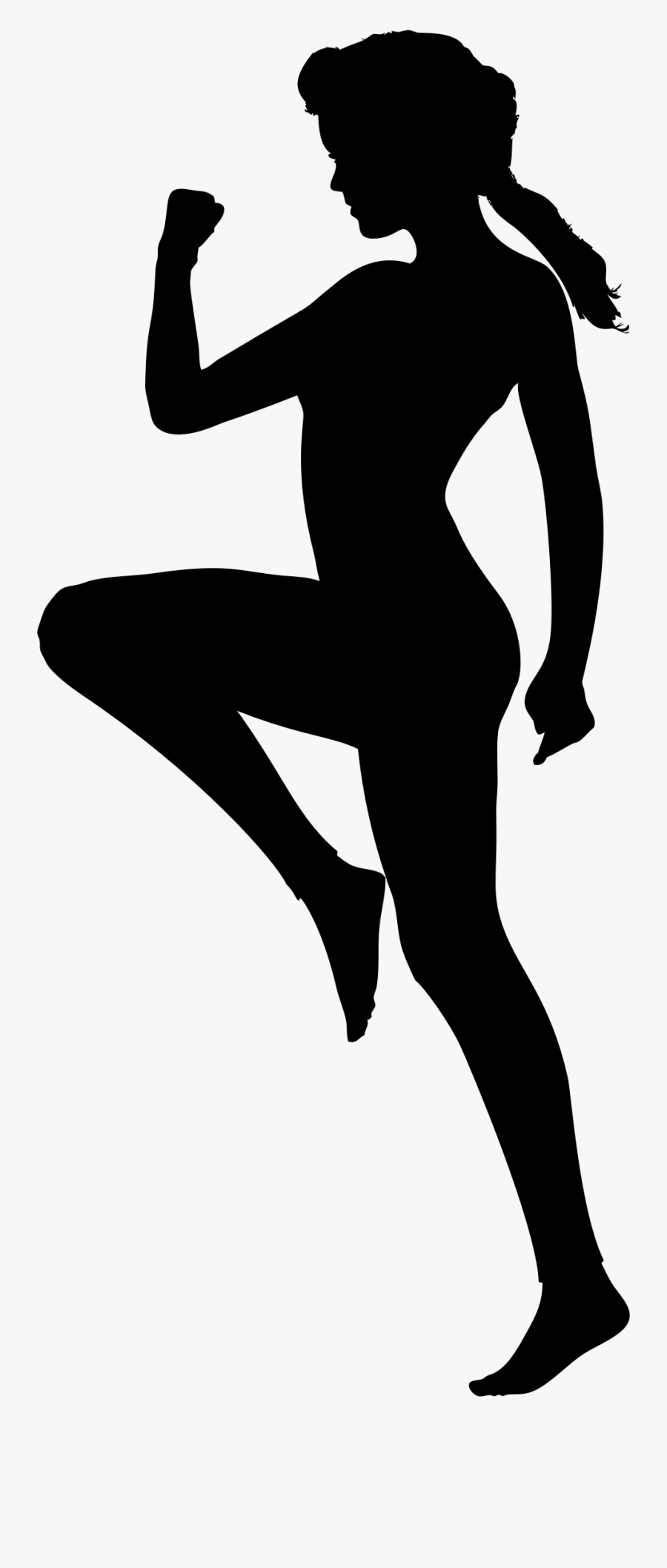Woman Exercising Silhouette By.