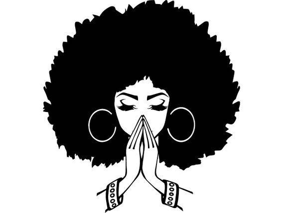 Afro Woman SVG #1 Nubian Princess Queen Afro Hair Beautiful African.