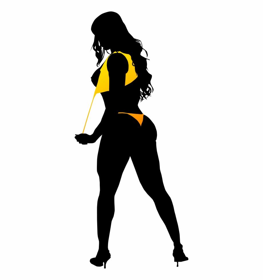 Black Woman Silhouette Art.