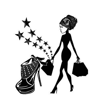 Amazon.com: EvelynDavid Black Woman Silhouettes Classy Lady Glamour.