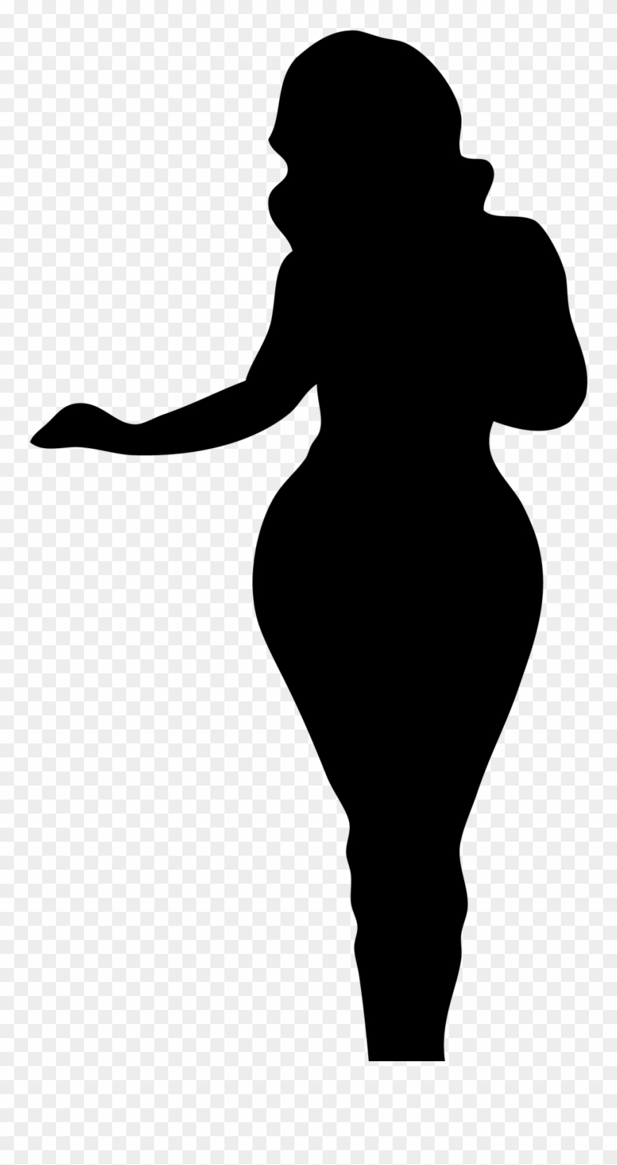 Black Woman Silhouette Clip Art.