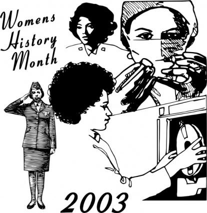 Women History Month clip art free vector.