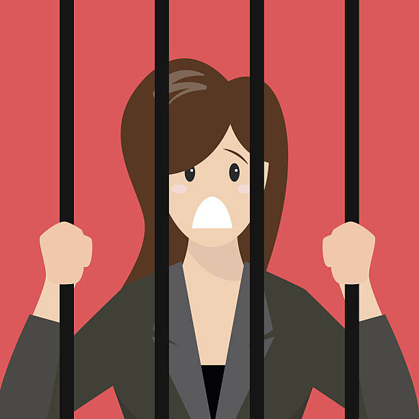 Woman In Jail Clipart.