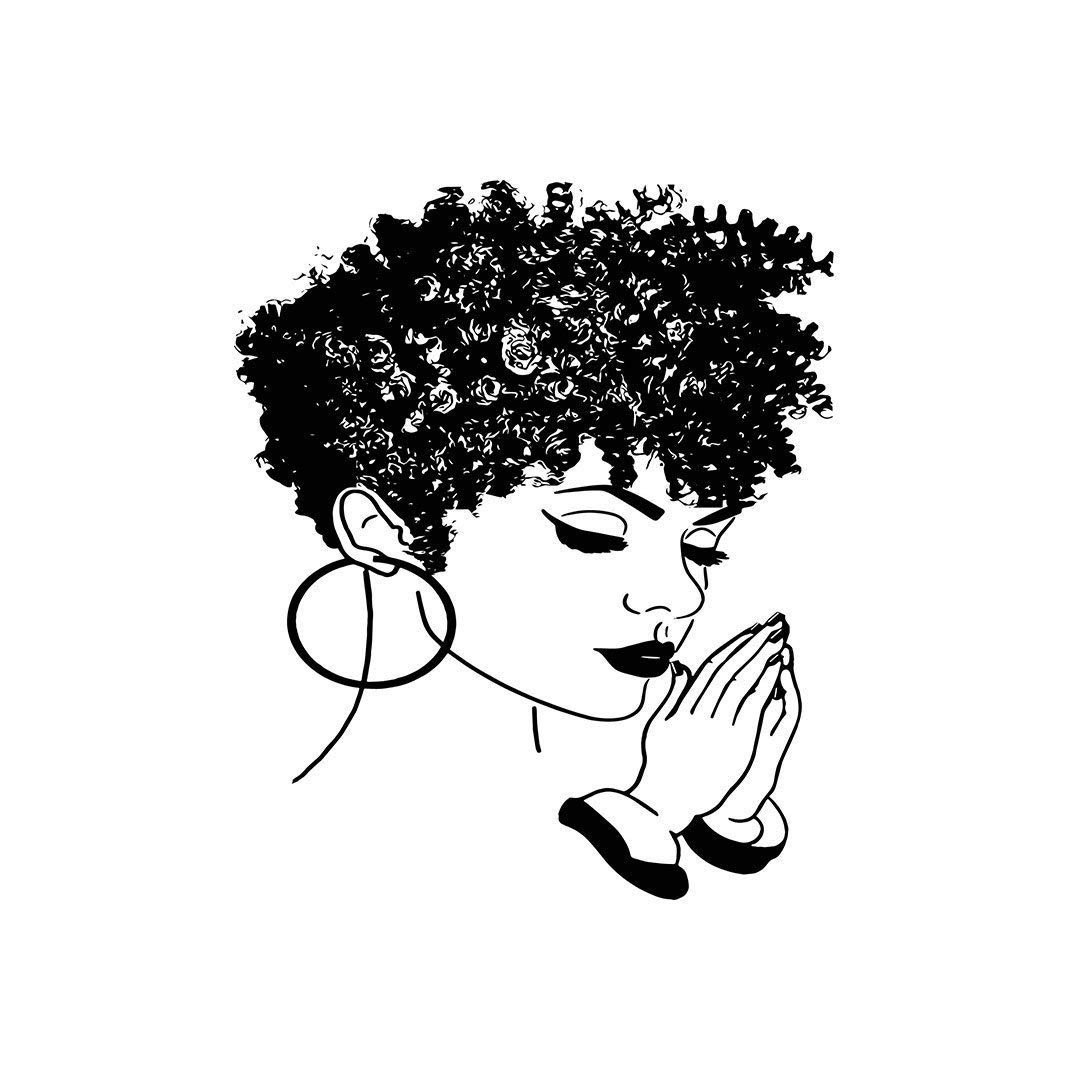 Amazon.com: EvelynDavid Black Women Praying Stylish Princess.