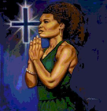 Black woman praying clipart 1 » Clipart Station.
