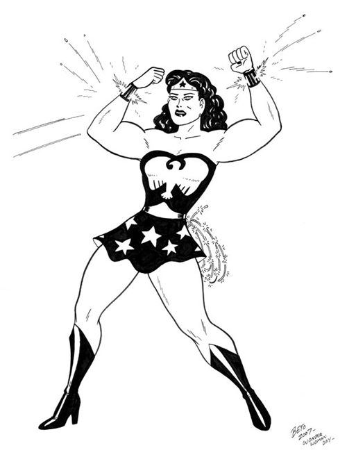 Black Wonder Woman Clipart.