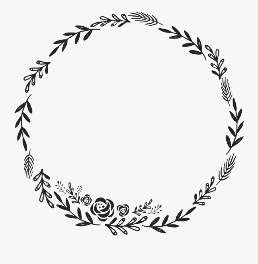 Border Frame Wreath Circle Round Fleaves Floralwreath.