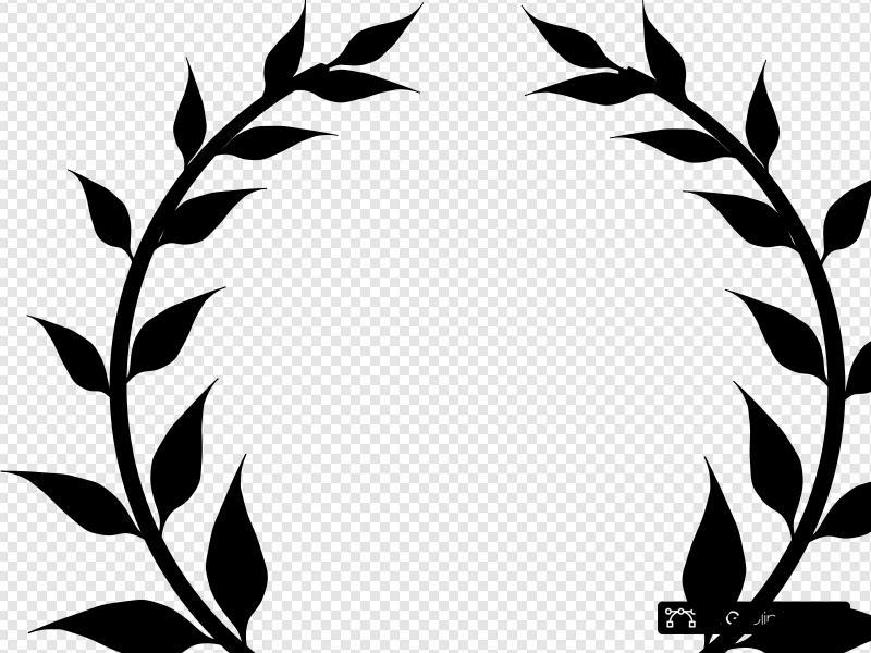 Black Wreath Clip art, Icon and SVG.