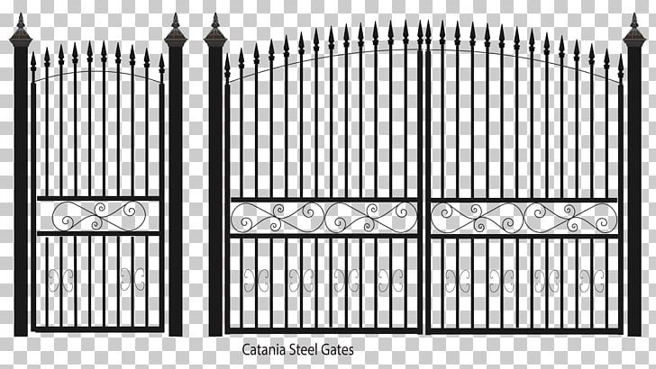 Fence Gate Wrought iron Steel Sheet metal, Fence PNG clipart.