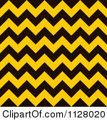 Black and yellow chevron clipart background.