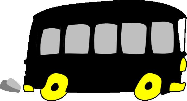 Black Yellow School Bus Clip Art at Clker.com.