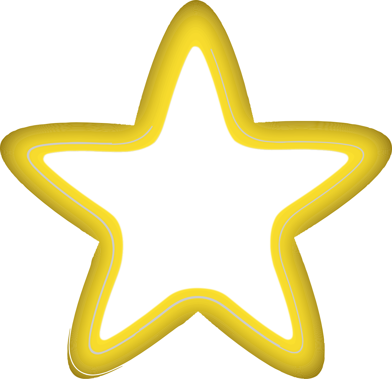 Yellow star clipart black and white colored.