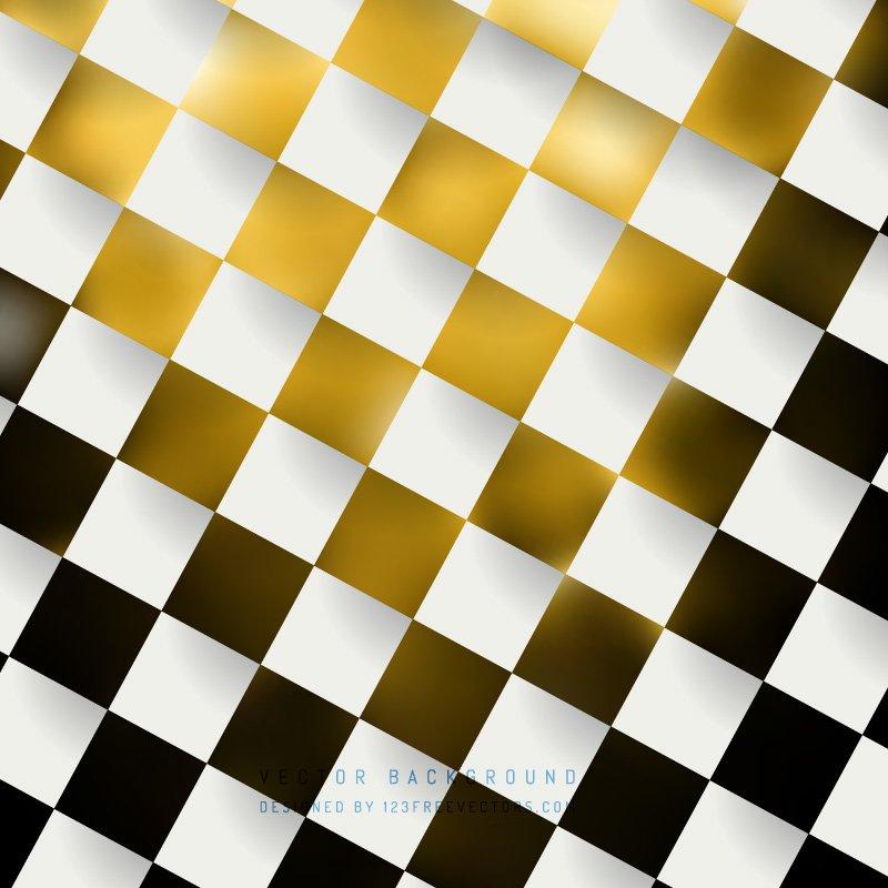 Black Yellow Checkered Pattern Background Clip art.