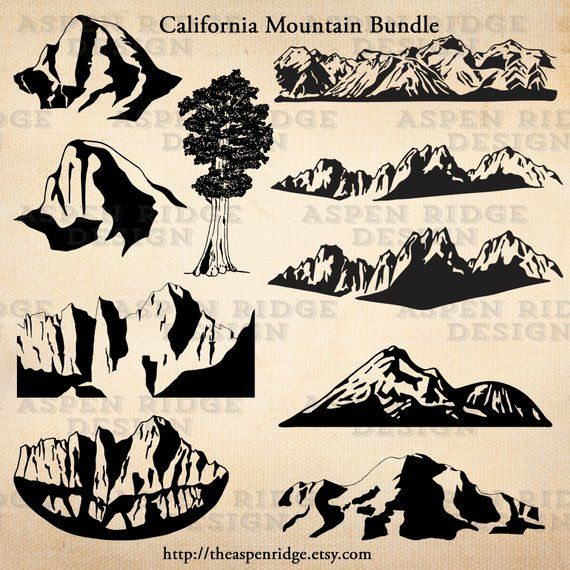 California mountain clipart bundle eastern sierra nevada.