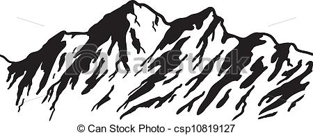 Mountain Clipart Drawing.