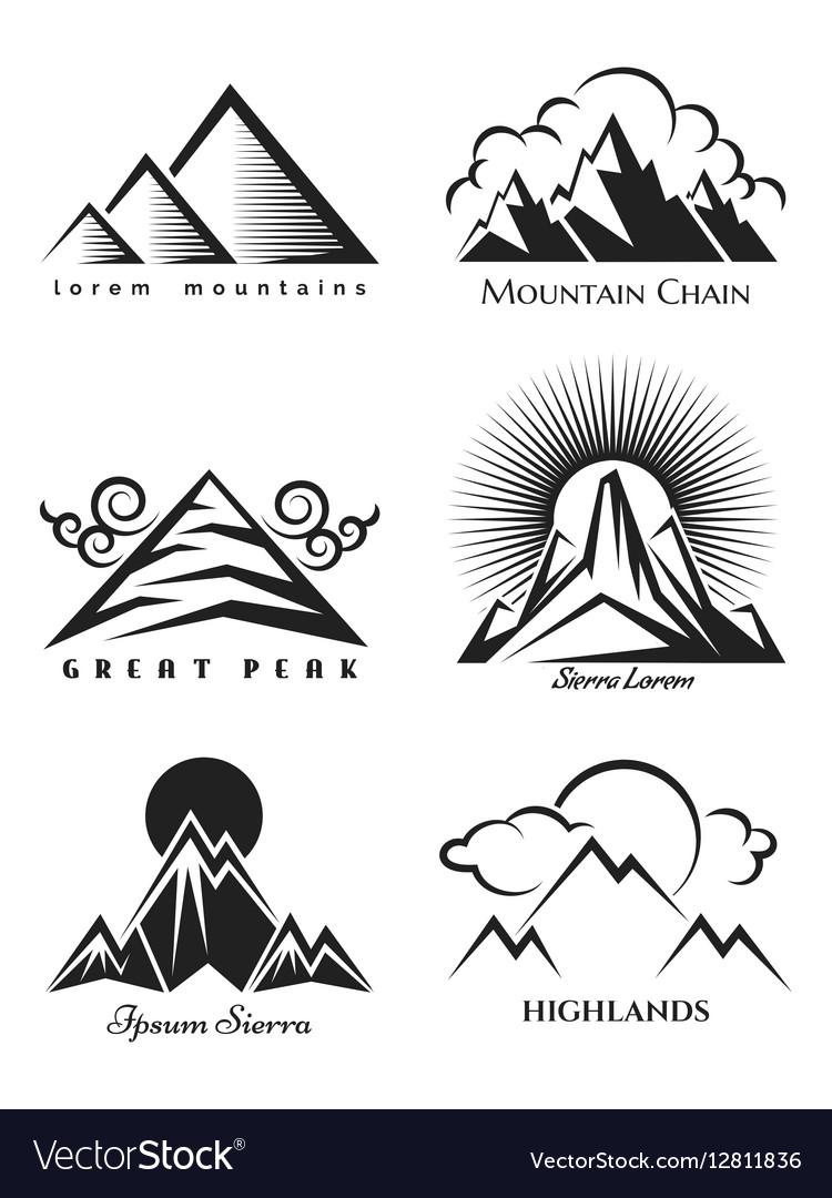 Mountain logo set collection.
