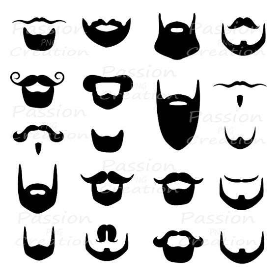 Black beard clipart.