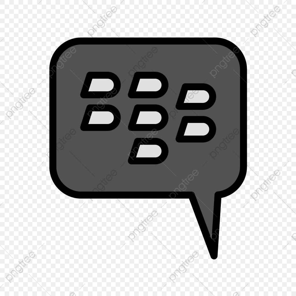 Blackberry Vector Icon, Chat, Telephone, Chat Icon PNG and Vector.