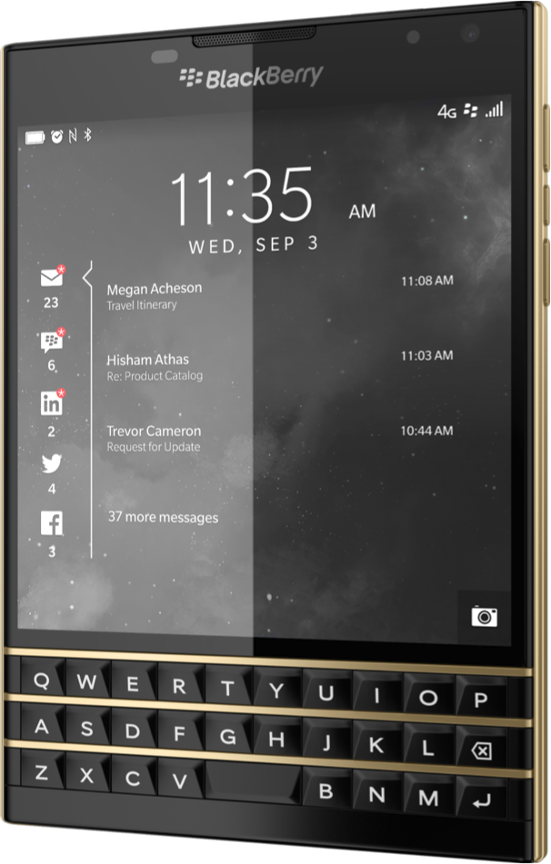 Limited Edition Black & Gold BlackBerry Passport Joins the Family.