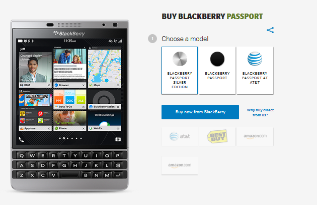 BlackBerry Passport Silver Edition now available in the U.S..