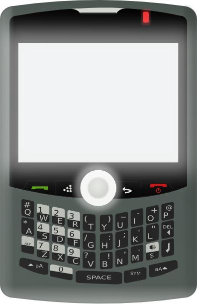 Blackberry Curve Clip Art at Clker.com.