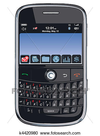 Vector cell phone / PDA /Blackberry Clipart.