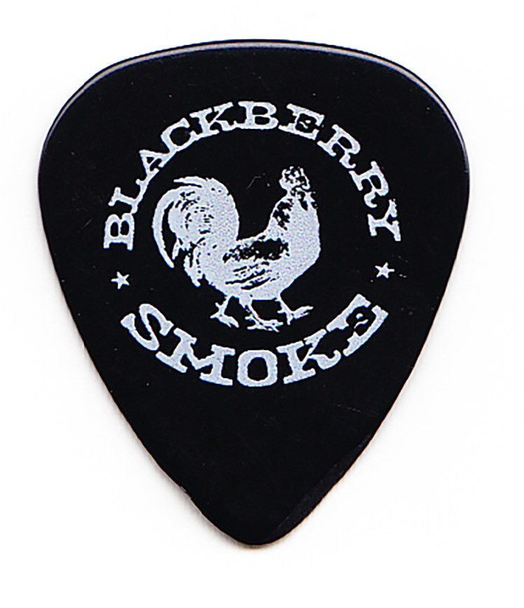 Blackberry Smoke Rooster Logo Black Guitar Pick.