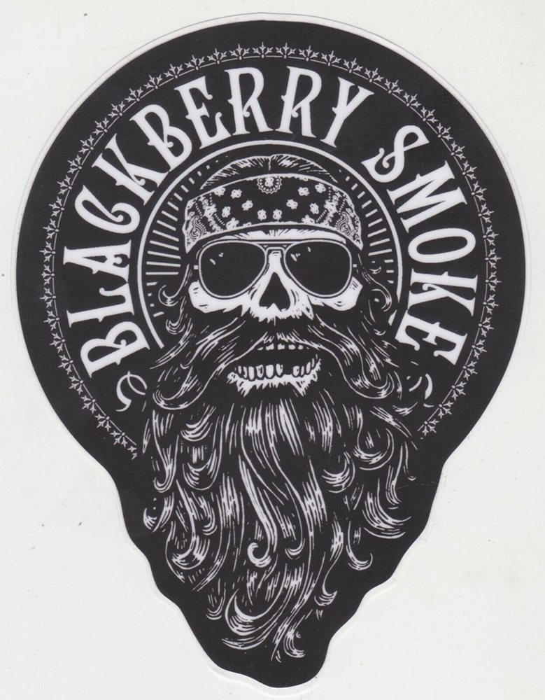 BLACKBERRY SMOKE SKULL STICKER SOUTHERN ROCK DECAL Lynyrd Skynyrd GUITAR  CASE.