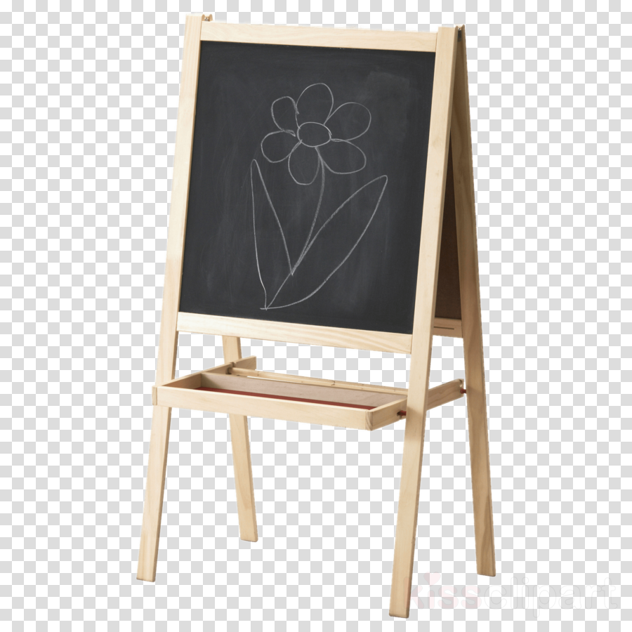 blackboard easel furniture office supplies chair clipart.