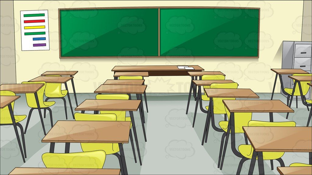 A basic classroom with chairs and desk #background.