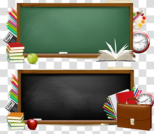 Rectangular brown wooden framed chalk board , Blackboard.