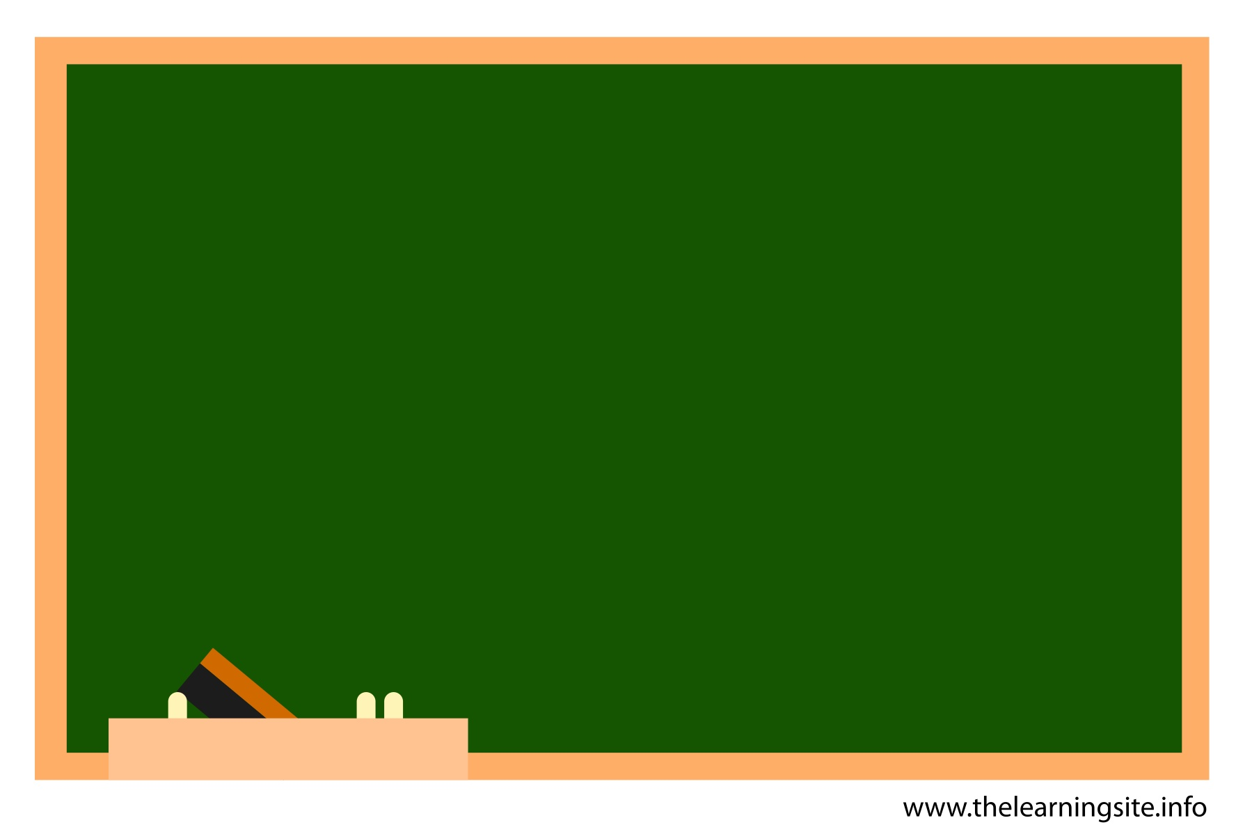 Blackboard And Chalk Clipart.