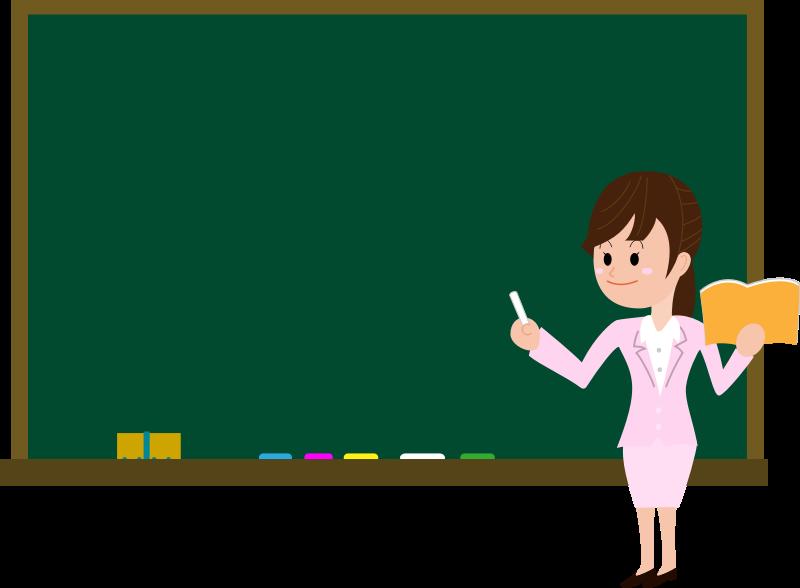 Blackboard with teacher clipart » Clipart Station.