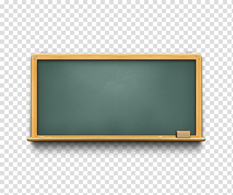 Green chalk board with yellow frame, Blackboard Learn.