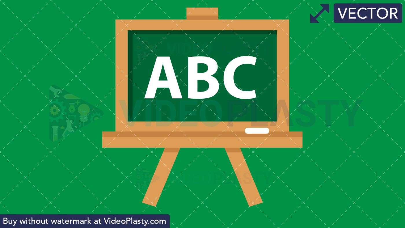 Blackboard Flat Icon [VECTOR].