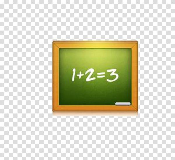 Blackboard Icon, Green chalkboard transparent background PNG.
