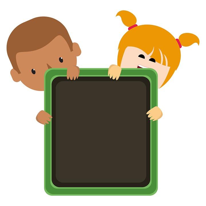 Blackboard Kids Clipart.
