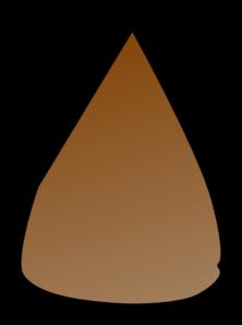 Brown Apple Seed Clip art.