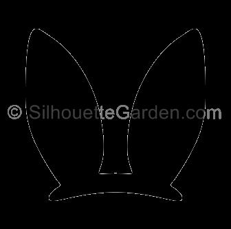 Black Bunny Ears Clipart.
