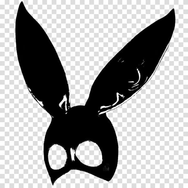 Ariana Grande Dangerous Woman, black bunny mask transparent.