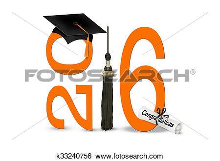 Stock Illustration of gradation 2016 with black cap k33240756.