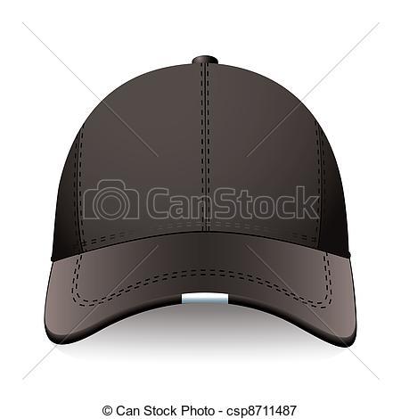 Vectors Illustration of Black sports cap.