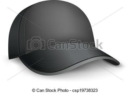 Vector Illustration of black cap.