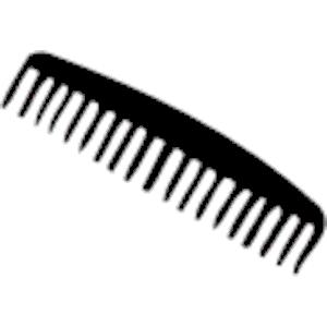 Black comb clipart.