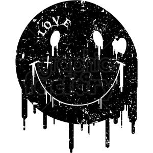 modern smile face blacked out distressed . Royalty.