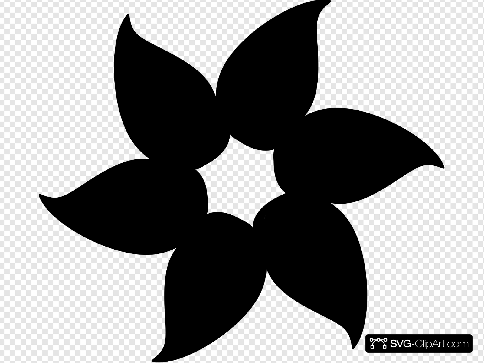 Solid Black Flower Clip art, Icon and SVG.