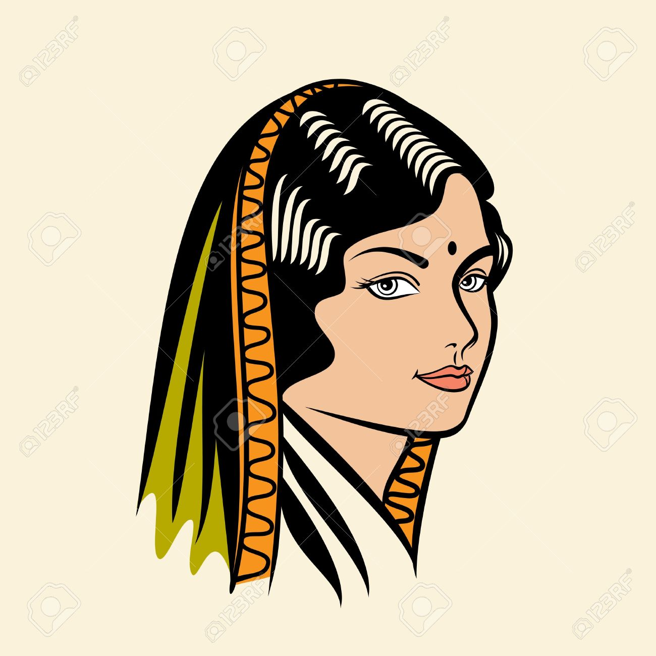 Blackfoot indian okan woman symbols clipart.