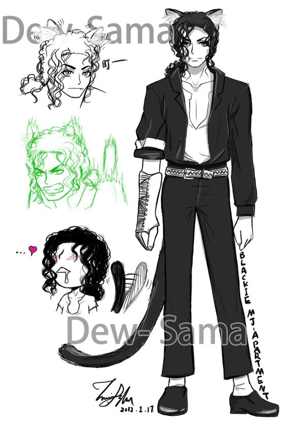 Blackie Character Setting by Dew.